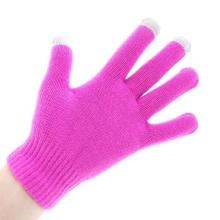 Rukavice pro ovládání dotykových zařízení - tmavě růžové