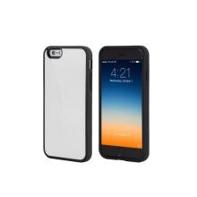 Kryt Mercury pro Apple iPhone 6 Plus / 6S Plus plasto-gumový - prostor pro umístění platební karty na vnitřní straně - bílý