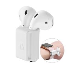 Držák Apple AirPods pro Apple Watch - silikonový - bílý