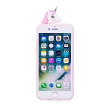 Kryt pro Apple iPhone 7 / 8 - 3D jednorožec - gumový - modrý / jednorožci a mraky
