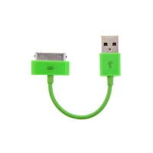 Mini synchronizační a nabíjecí datový kabel pro iPhone / iPod / iPad - zelený