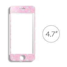 Super odolné tvrzené sklo LOFTER (Tempered Glass) přední část + samolepka na zadní část pro Apple iPhone 6 / 6S - růžové - 0,3mm