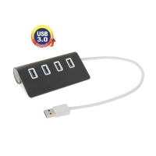 USB rozbočovač s 4x port USB 3.0 - černý