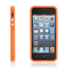 Ochranný rámeček / bumper pro Apple iPhone 5 / 5S / SE - oranžový