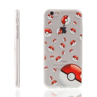 Kryt pro Apple iPhone 6 / 6S gumový - Pokemon Go / 3D Pokeball