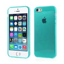 Kryt pro Apple iPhone 5 / 5S / SE (tl. 0,5mm) - antiprachová záslepka - průhledný - zelený
