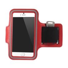 Sportovní pouzdro pro Apple iPhone 6 / 6S - červené s reflexním pruhem