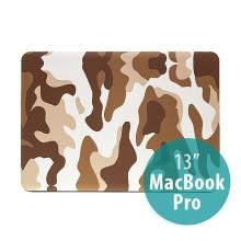 Plastový obal ENKAY pro Apple MacBook Pro 13 - maskáč - hnědý