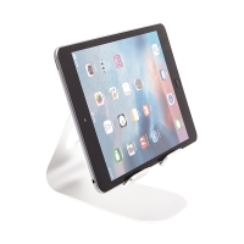 Univerzální hliníkový stojan s nastavitelným držákem pro Apple iPad a další zařízení - stříbrný