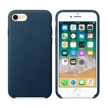 Originální kryt pro Apple iPhone 7 / 8 - kožený - vesmírně modrý