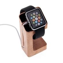 Dřevěný nabíjecí stojánek pro Apple Watch 38mm / 42mm Series 1 / 2 / 3 - světlý