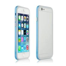 Ochranný plasto-gumový rámeček / bumper pro Apple iPhone 6 - modro-šedý