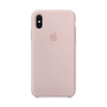 Originální kryt pro Apple iPhone X - silikonový - pískově růžový