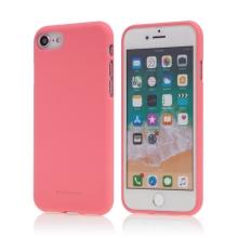 Kryt MERCURY Soft feeling pro Apple iPhone 7 / 8 - gumový - růžový