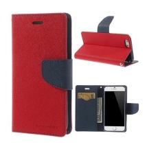 Pouzdro Mercury pro Apple iPhone 6 / 6S - stojánek a prostor pro platební karty - červeno-modré