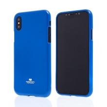 Kryt MERCURY Jelly Case pro Apple iPhone X - gumový - modrý - lesklý