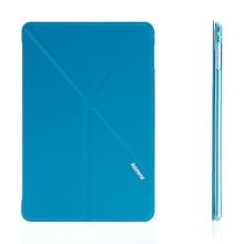 Elegantní pouzdro / kryt REMAX pro Apple iPad mini 4 - variabilní stojánek + funkce chytrého uspání - modré