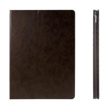 Pouzdro pro Apple iPad Pro 12,9 - integrovaný stojánek a prostor na doklady - hnědé