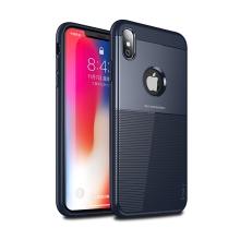 Kryt IPAKY pro Apple iPhone Xs Max - plastový / gumový - tmavě modrý