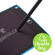 Tablet / tabulka na psaní a kreslení - rychlé smazání - modrá