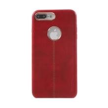 Kryt VORSON pro Apple iPhone 7 Plus / 8 Plus umělá kůže / výřez pro logo - červený