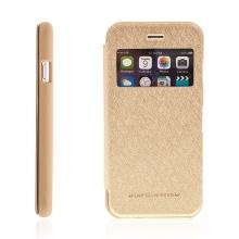 Pouzdro Mercury pro Apple iPhone 6 / 6S - výřez na displej, prostor pro platební karty / doklady - zlaté