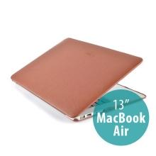 Ochranný plastový obal ZVE pro Apple MacBook Air 13.3 - povrchová úprava - umělá kůže - hnědé