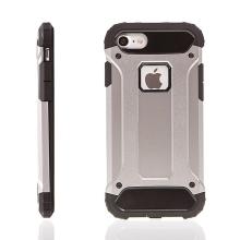 Kryt pro Apple iPhone 7 / 8 - plasto-gumový / antiprachová záslepka - šedý