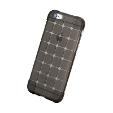 Gumový kryt ROCK pro Apple iPhone 6 Plus / 6S Plus - 3D kostky - průhledný - světle šedý