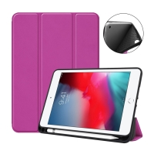 Pouzdro / kryt pro Apple iPad mini 4 / mini 5 - funkce chytrého uspání - gumové - fialové
