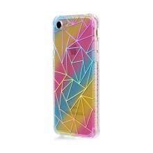 Kryt pro Apple iPhone 7 / 8 - gumový / plastový - duhový / stříbrné trojúhleníky