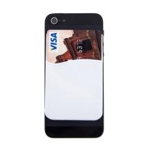 Nalepovací silikonové pouzdro pro umístění platební karty na zadní část Apple iPhone 4 / 4S / 5 / 5C / 5S / SE - bílé