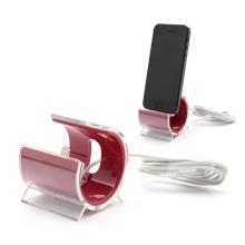 Designová dokovací stanice (dock) s Lightning kabelem pro Apple iPhone / iPod - purpurová