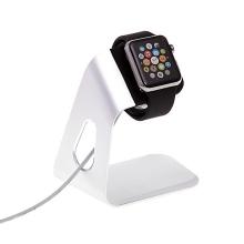 Hliníkový nabíjecí stojánek pro Apple Watch 38mm / 42mm Series 1 / 2 / 3 - stříbrný