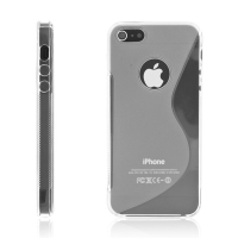Protiskluzový ochranný kryt S line pro Apple iPhone 5 / 5S / SE - průhledný
