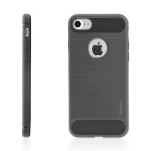 Kryt IPAKY pro Apple iPhone 7 / 8 - výřez pro logo / gumový - šedý