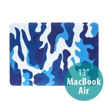 Plastový obal ENKAY pro Apple MacBook Air 13.3 - maskáč - modrý