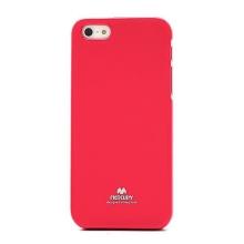 Gumový kryt Mercury pro Apple iPhone 5 / 5S / SE - jemně třpytivý - růžový