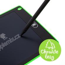Tablet / tabulka na psaní a kreslení - rychlé smazání - zelená