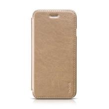 Elegantní flipové kožené pouzdro HOCO pro Apple iPhone 6 / 6S - zlaté