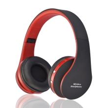 Sluchátka Bluetooth bezdrátová NX-8252 - mikrofon + ovládání - 3,5mm jack vstup - černá / červená