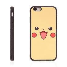 Kryt pro Apple iPhone 6 / 6S - kovový povrch - gumový - Pokemon Go / roztomilý Pikachu