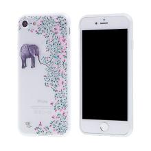 Kryt pro Apple iPhone 7 / 8 - gumový - slon a větvičky