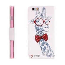 Pouzdro / kryt pro Apple iPhone 6 Plus / 6S Plus - prostor pro doklady / stojánek - žirafa