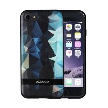 Kryt DZGOGO pro Apple iPhone 7 / 8 - plast / umělá kůže - černé / zelené tvary