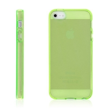Kryt pro Apple iPhone 5 / 5S / SE - gumový - žlutý / zelený?