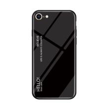 Kryt pro Apple iPhone 7 / 8 - sklo / guma - černý