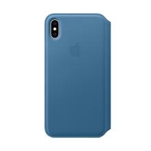 Originální pouzdro Apple Folio pro Apple iPhone Xs Max - kožené - modrošené