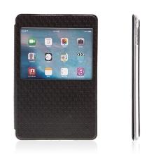 Pouzdro pro Apple iPad mini 4 - stojánek, prostor na doklady a průhledné okénko - černé