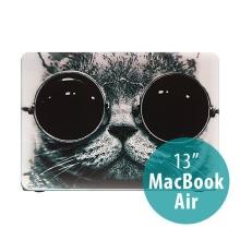Obal pro Apple MacBook Air 13.3 plastový - cool cat